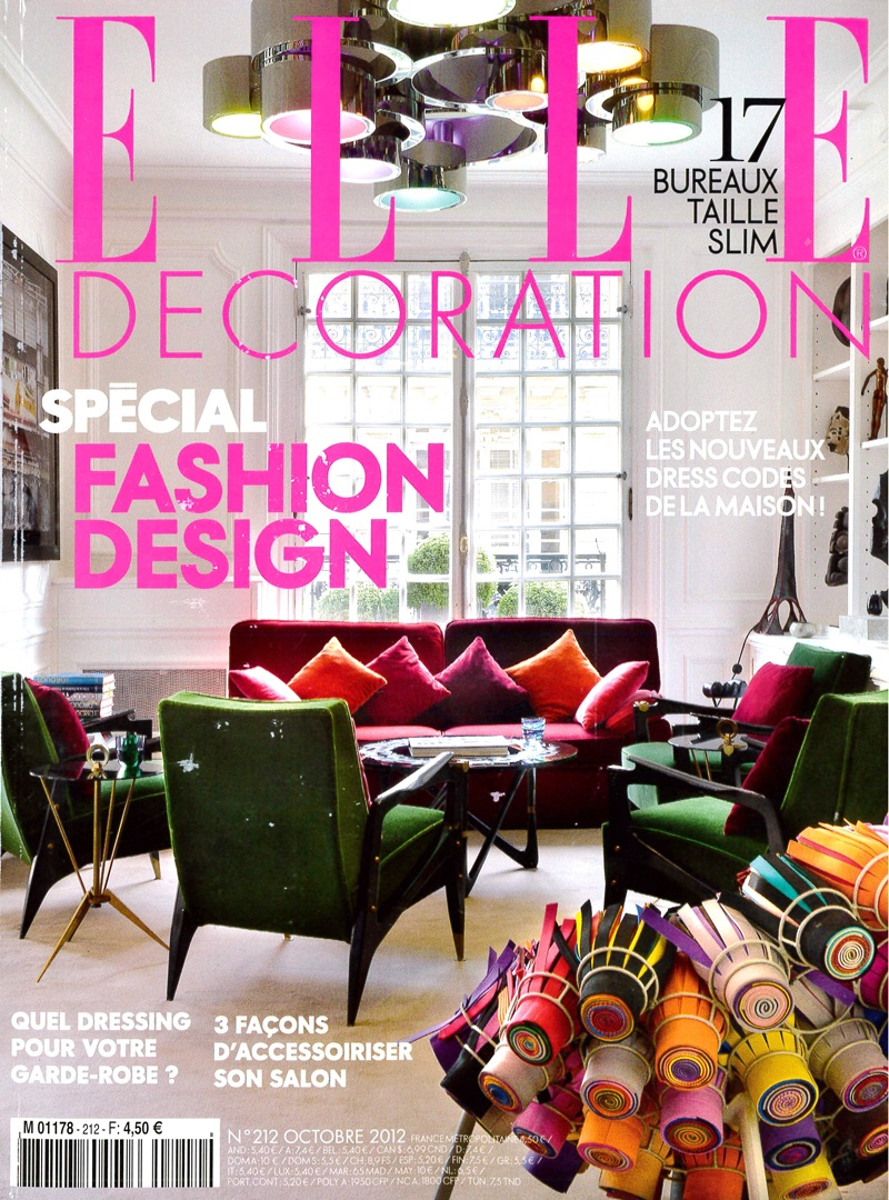 Elle Decoration, Francia - Ottobre 2012